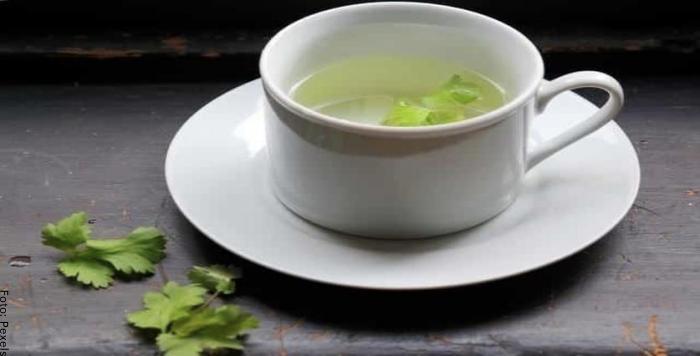 Foto de una taza de té de cilantro