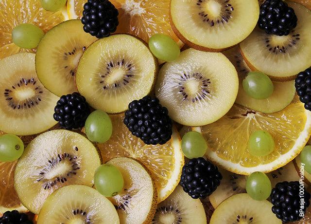 Foto de fruta picada