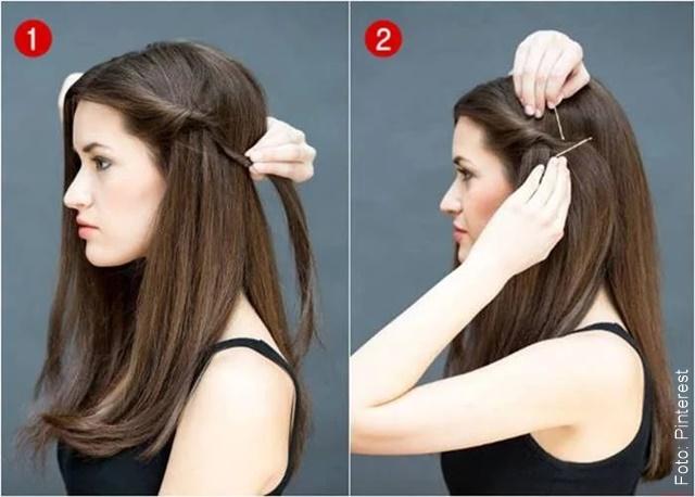 foto de paso a paso de peinado fácil