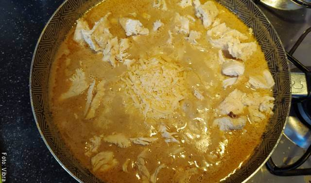 Foto de la preparación de una salsa