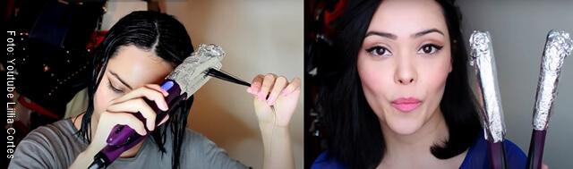 foto de mujer realizando repolarización del cabello