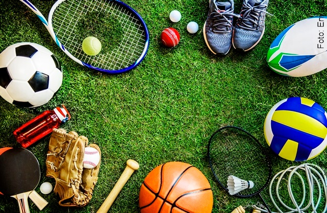 foto de elementos deportivos para varias disciplinas