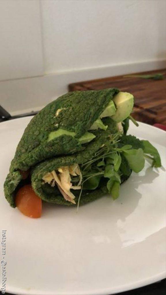 Foto de la tortilla de espinaca perfecta hecha por Estefanía Borge