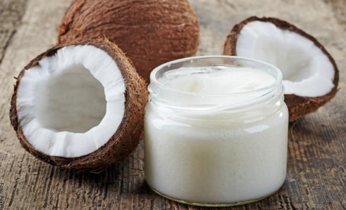 Foto del aceite de coco para el cabello