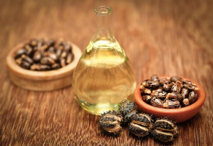 Foto del aceite de ricino para el cabello