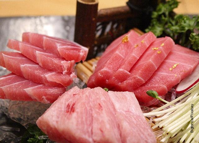 Foto de varios trozos de salmón