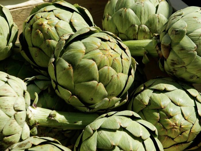 Foto de una verdura llamada alcachofa