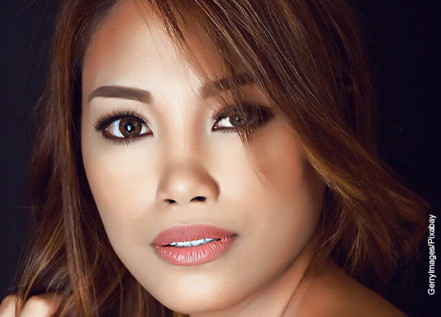 Foto del rostro de una modelo