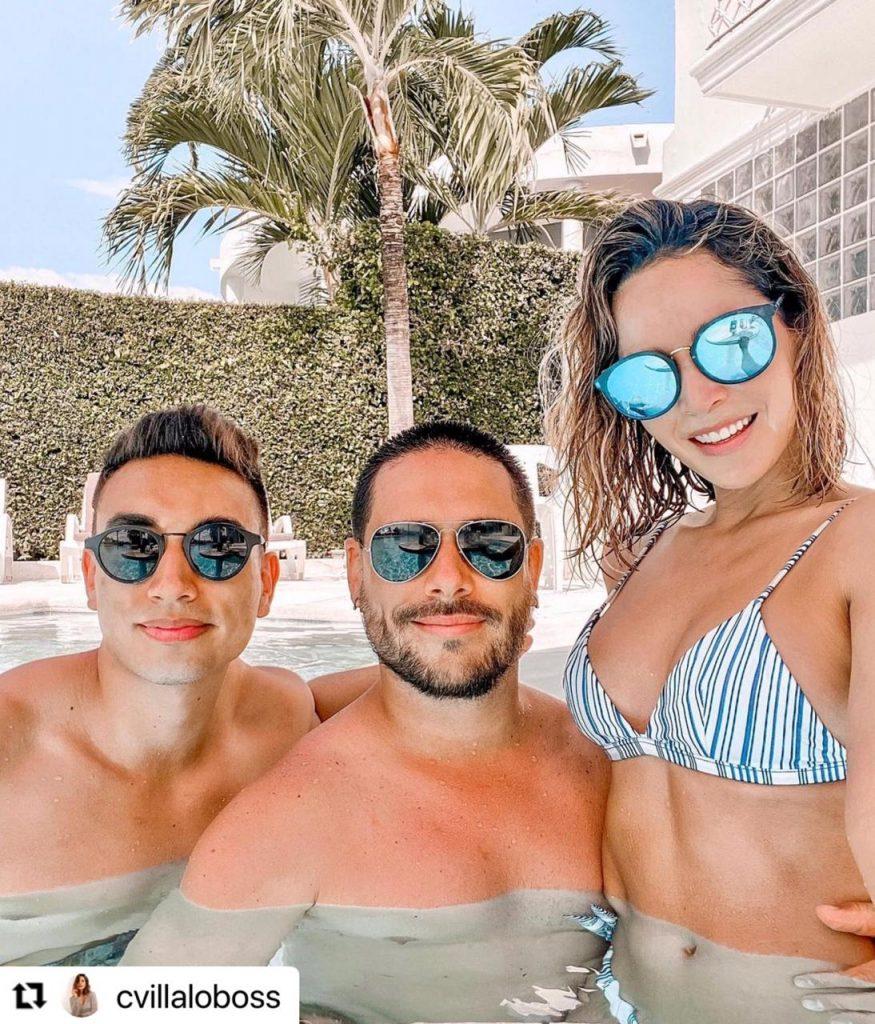 Carmen Villalobos de vacaciones con sus familiares.