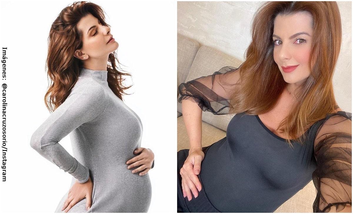 Carolina Cruz mostró la celulitis que le ha producido el embarazo