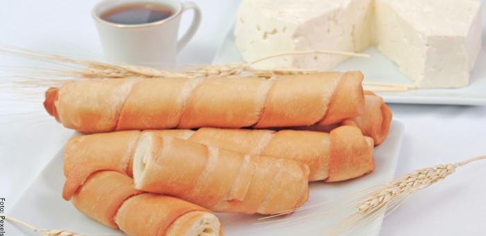 Foto de los dedos de queso ya preparados