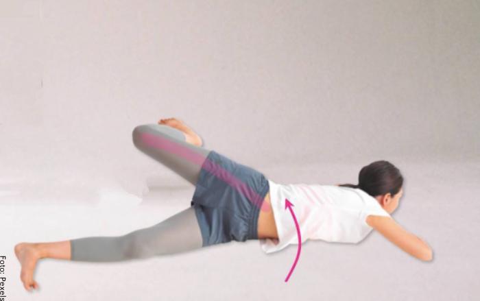 Foto de ejercicio para un vientre más plano