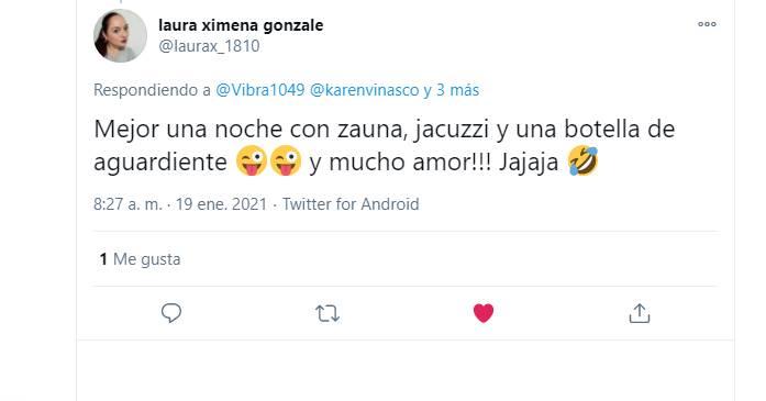 Screenshot de los comentarios en el twitter de Vibra