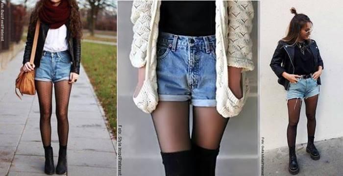 Foto de chicas con pantaloneta de jeans