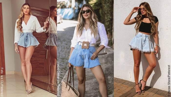 Foto de chicas usando short de jean