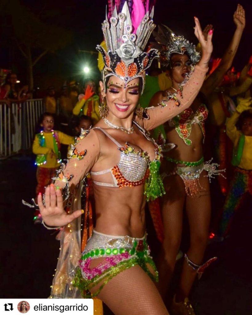 Elianis Garrido en el Carnaval de Barranquilla.