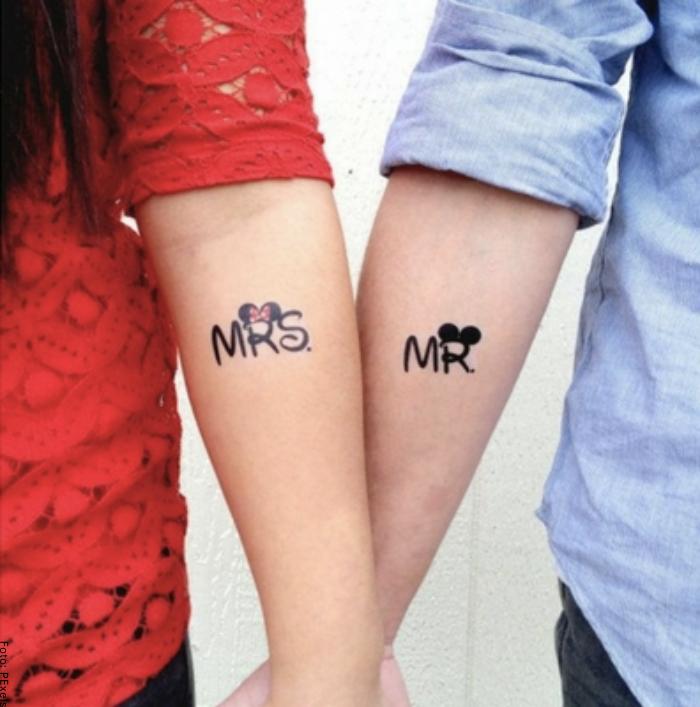Foto de un tatuaje para parejas