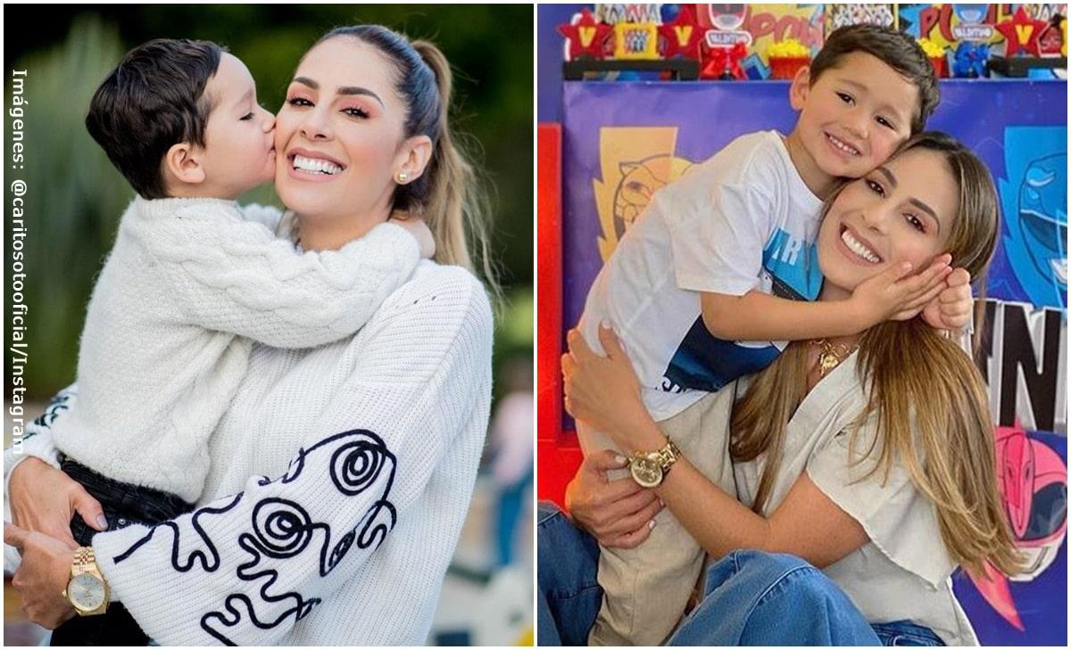 La bella fiesta de cumpleaños que le hizo Carolina Soto a su hijo