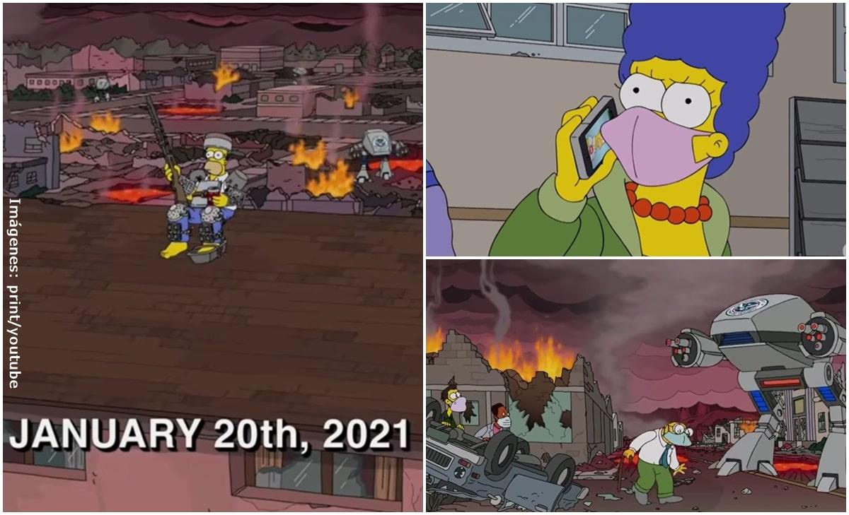 Los Simpson predicen el fin del mundo en este 2021