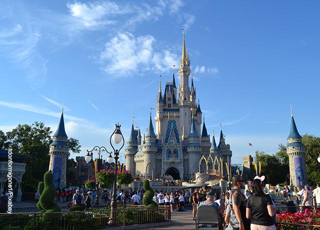 Foto de un castillo en el parque de Disney