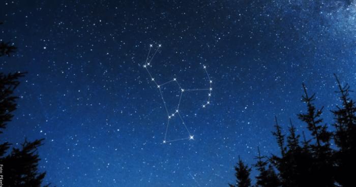 Foto de la constelación orión