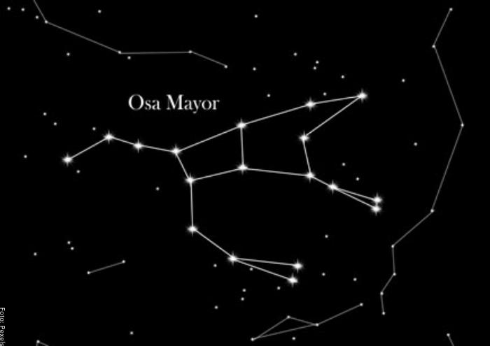 Foto de la constelación de osa mayor