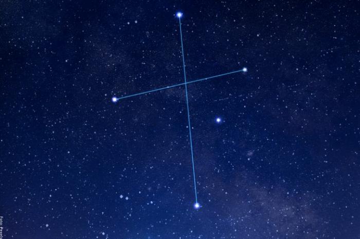 Foto de la constelación cruz del sur