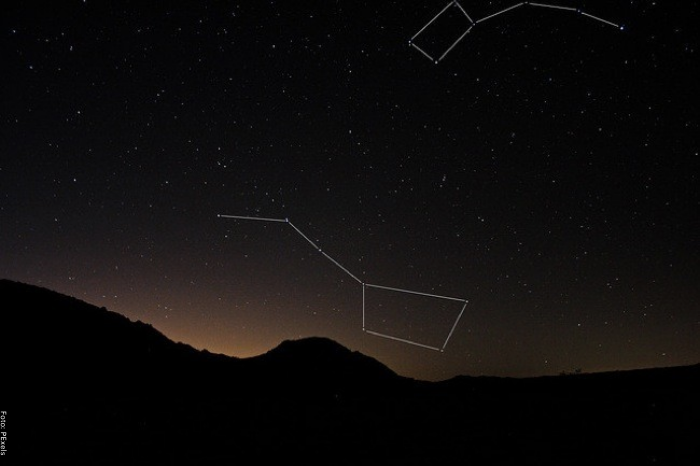 Foto de la constelación de osa menor