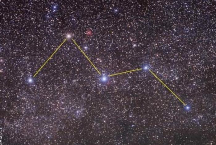 Foto de la constelación casiopea