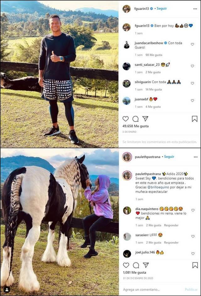 Print de Instagram comparando dos lugares