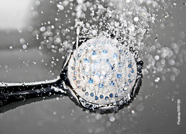 Foto de una ducha manual