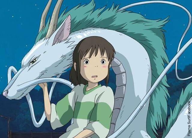 Foto de los viajes de Chihiro, que ilustra las películas animadas