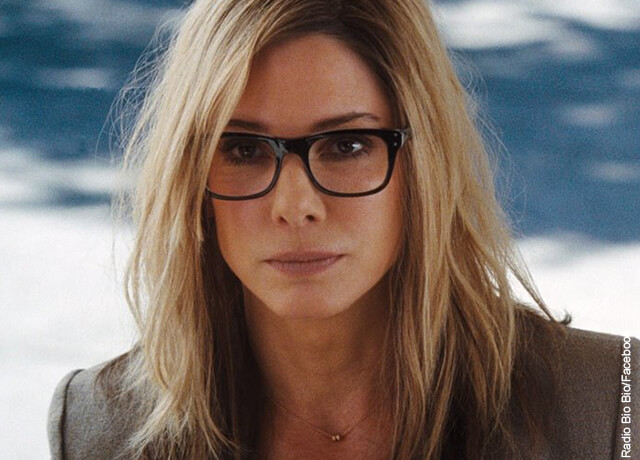 Foto de la actriz Sandra Bullock con gafas