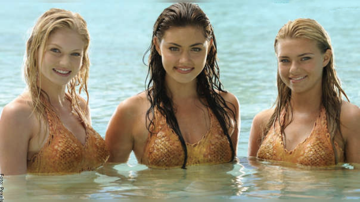 Foto de las protagonistas de H2O: Sirenas del mar