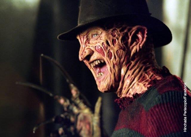 Foto de Freddy Krueger con su cara desfigurada