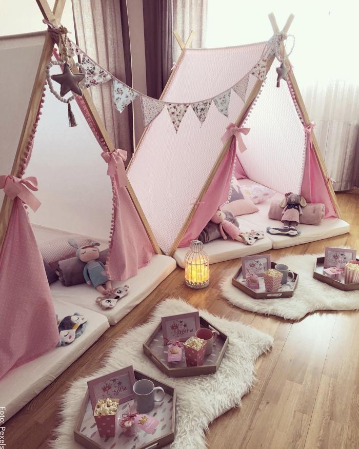 Foto de una habitación decorada para hacer una pijamada