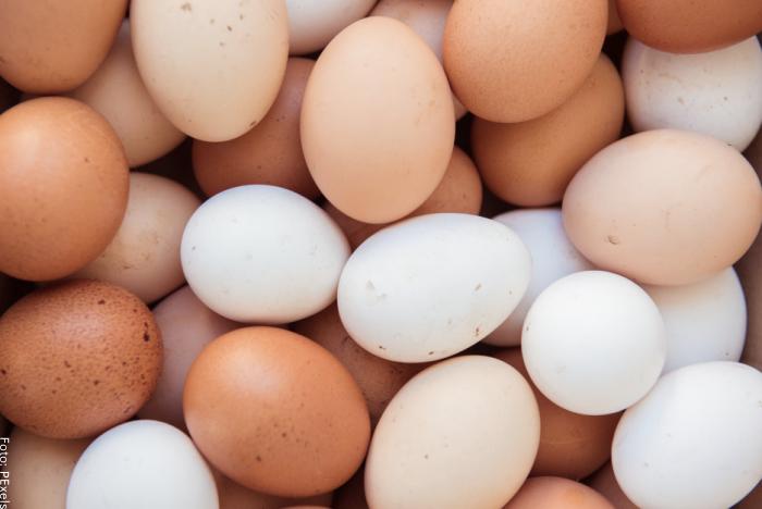 Foto de muchos huevos de distintos colores