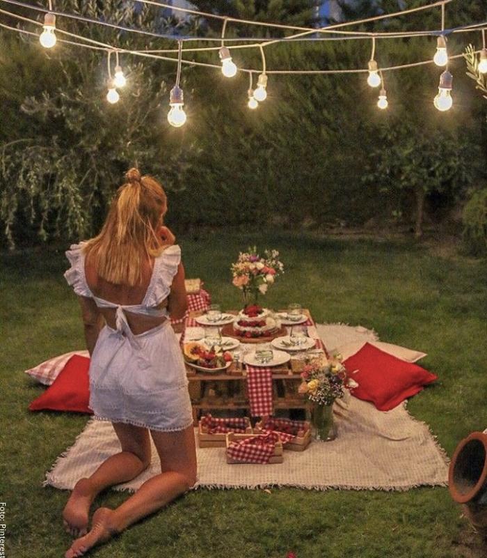 Foto de una cena romántica