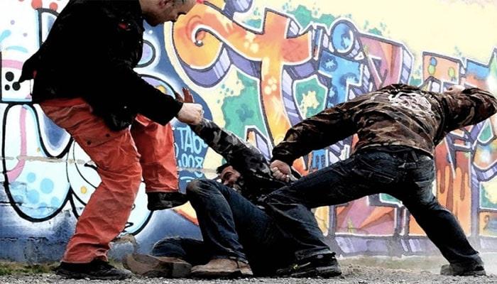 Foto de una pelea callejera