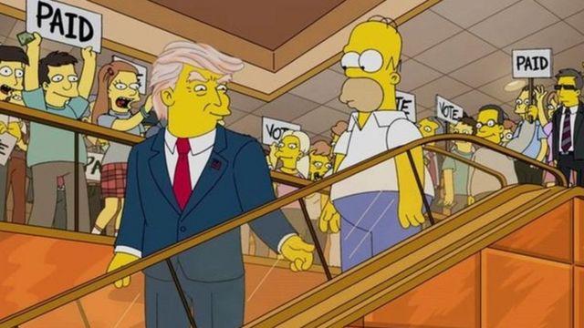 Trump en los Simpson.