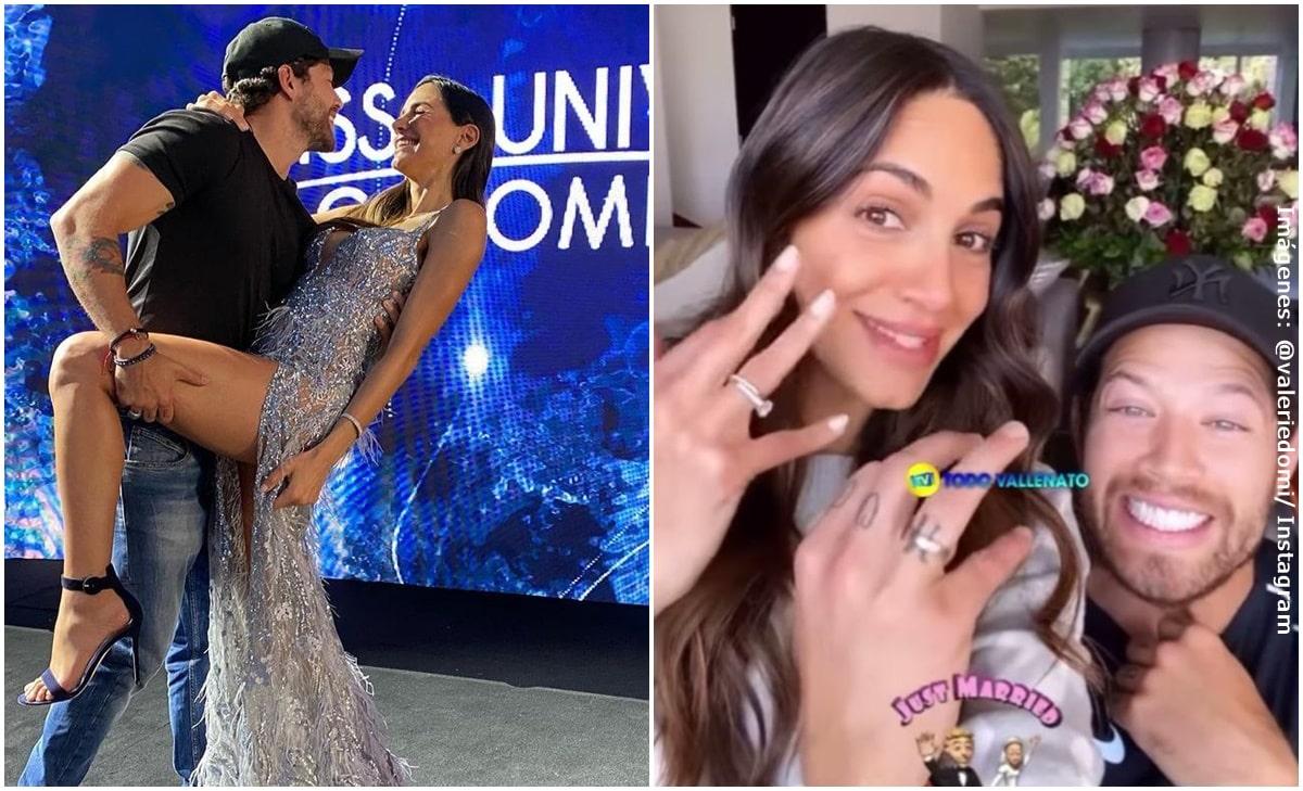Valerie Domínguez y 'El Pollo' Echeverry revelaron que ya se casaron