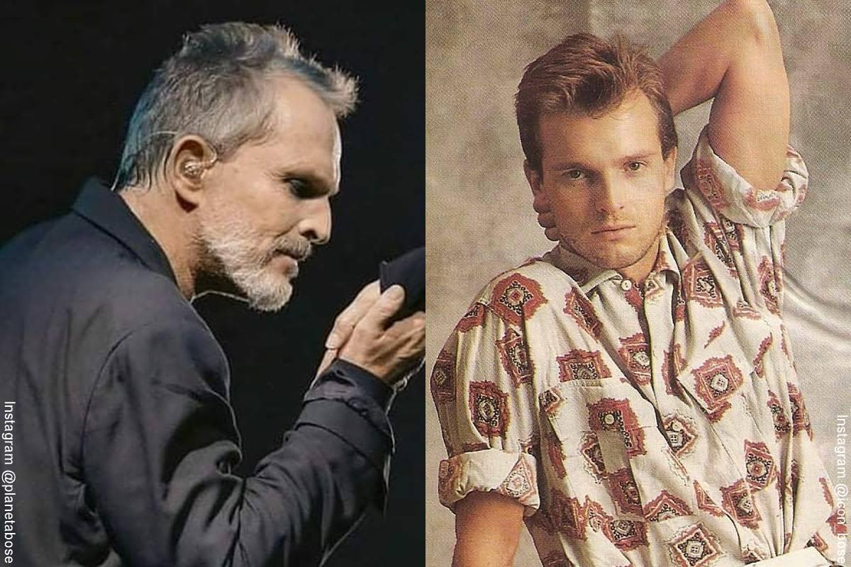 Foto de Miguel Bose, antes y después