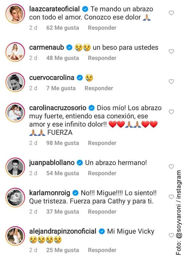foto que ilustra los comentarios por la muerte de la mascota de miguel varoni y catherine siachoque