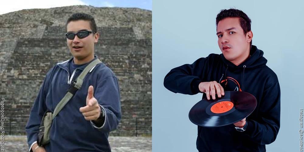 Foto de David Rodríguez, antes y después