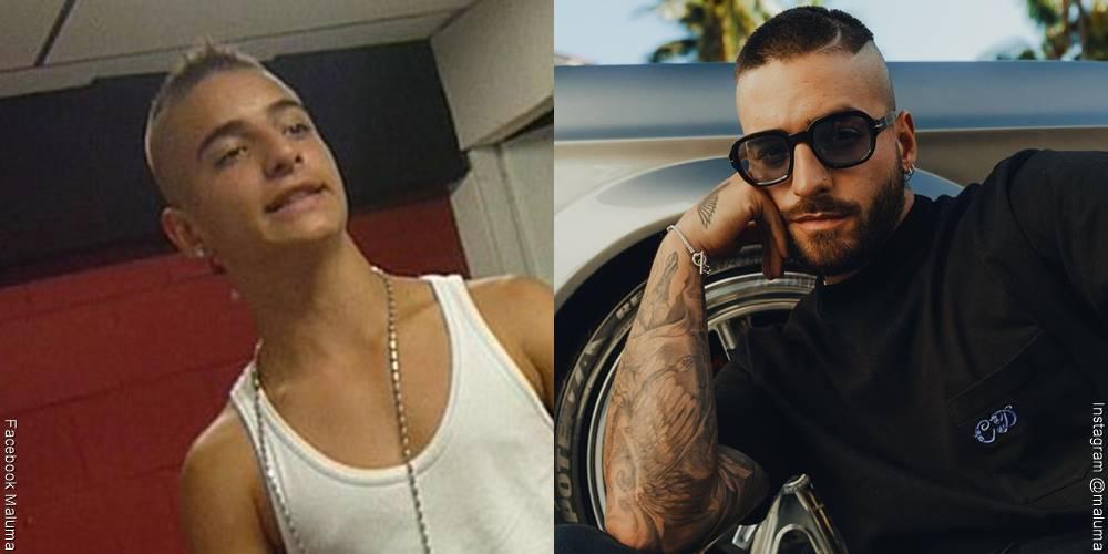 Foto de Maluma, antes y después