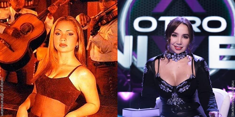 Foto de Paola Jara, antes y después