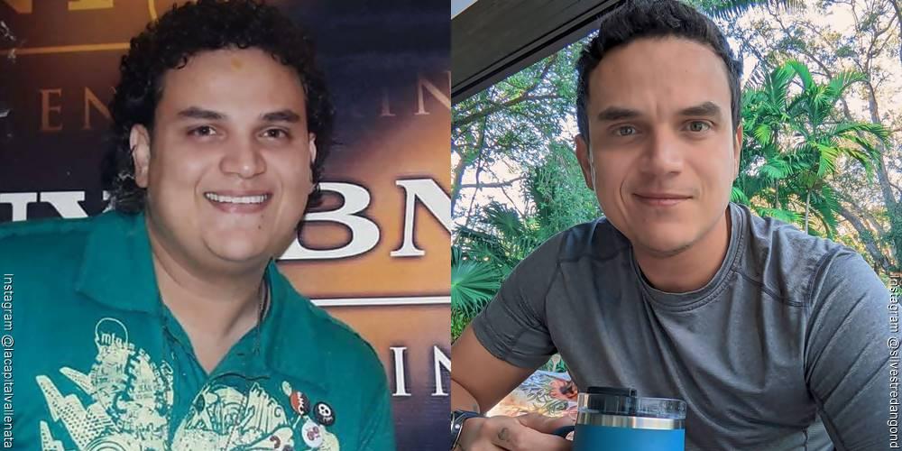 Foto de Silvestre Dangond, antes y después