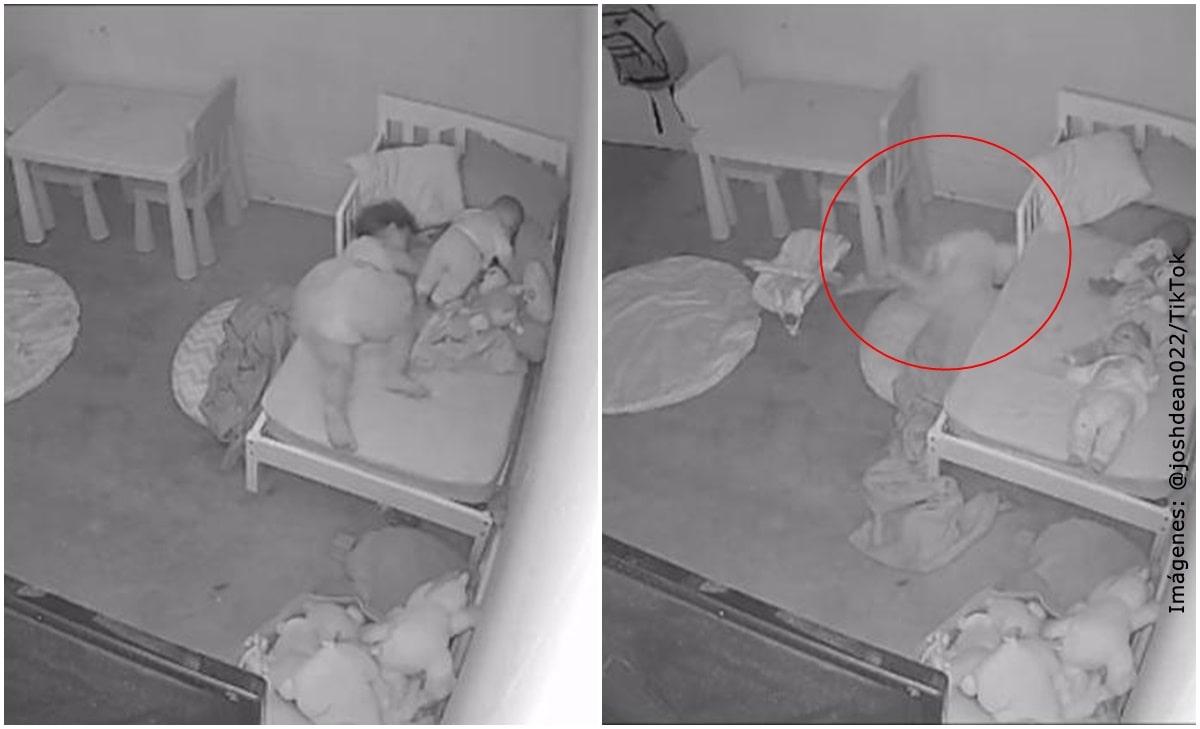 Cámara de seguridad captó a niña arrastrada por supuesto fantasma