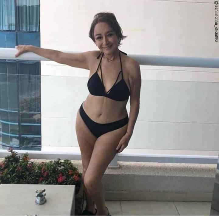 Foto de María Antonieta de las Nieves en bikini a los 70 años