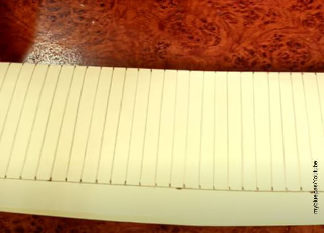 Foto de líneas trazadas sobre una cartulina